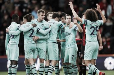 Los jugadores del Arsenal, los vencedores. Foto: Premier League.