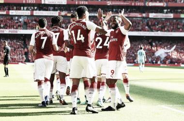 Los jugadores del Arsenal celebran un gol | Fotografía: Arsenal