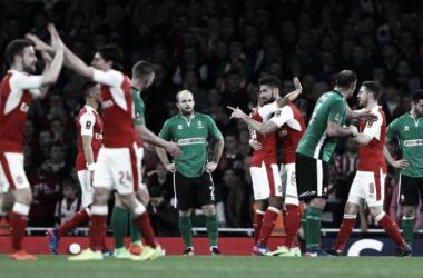 Goleada dell'Arsenal, www.theguardian.com