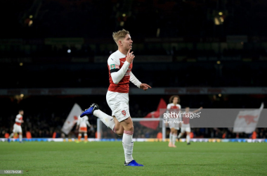 Arsenal 2-1 Blackpool: Both sides reduced to ten men as Gunners scrape through in Carabao Cup