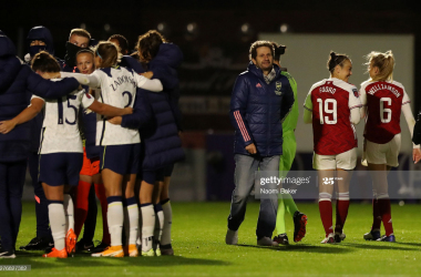 Arsenal 4-0 Tottenham: Lisa Evans hat-trick cements Arsenal's place in the Vitality FA Cup Semi-Final