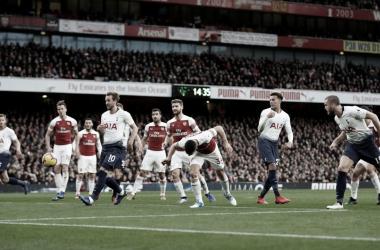 El último partido entre Arsenal y Tottenham en el Emirates Stadium. Foto: Premier League.