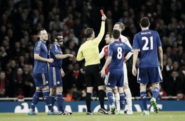 Arsenal 0-1 Chelsea: 10-man Gunners silenced by Blues