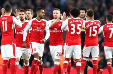 Arsenal lors de la victoire face à Bournemouth l'an passé (via Arsenal FC)