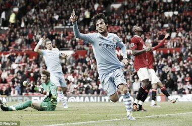 Silva scored in the memorable 6-1 victory at Old Trafford in 2011 Photo source: dailymail.co.uk/ Reuters