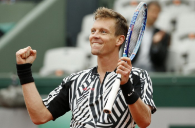 Tomas Berdych at this year's French Open- Photo courtesy AP