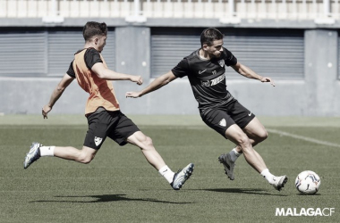 Entrenamiento del Málaga/Foto: Málaga CF