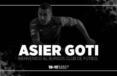 Asier Goti, nuevo fichaje del Burgos CF (Foto: Burgos CF)