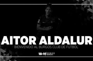 Aitor Aldalur se convierte en nuevo jugador del Burgos CF (Foto: Burgos CF)