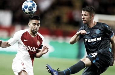 En la imagen, jugadores del AS Mónaco y el Brujas // Fuente: Champions League