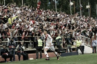 Gol de Álex Moreno contra el Lugo | Fotografía: Rayo Vallecano