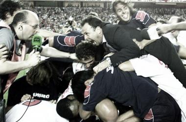 Celebración del ascenso | Foto: Sevilla FC