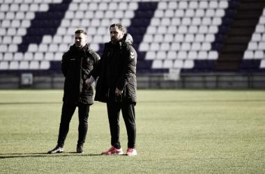 Sergio González en el último entrenamiento // Foto: Real Valladolid