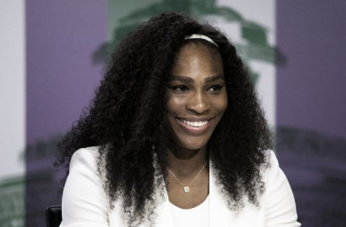 Serena Williams en rueda de prensa. (Fotografía: Wimbledon).