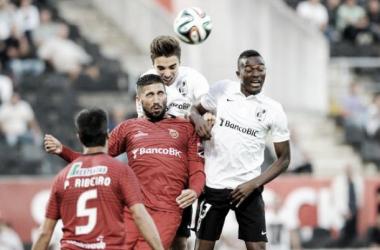 Bernard Mensah é o novo goleador Vimaranense (imagem:record)