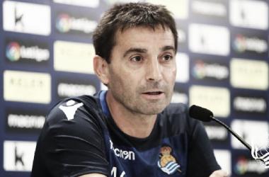 Asier Garitano en su debut en La Cerámica como entrenador de la Real. Foto: Real Sociedad