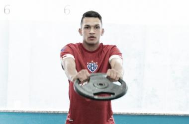 Centroavante pouco atuou pelo time de Bragança e espera ser aproveitado pelo Papão (Foto: Fernando Torres/Paysandu)