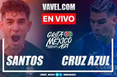 Resumen y goles: Santos 1-1 Cruz Azul en Jornada 2 de la Liga MX Apertura 2021