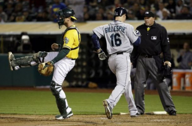 A's struggles continued against the Mariners this week.  (Marcio Jose Sanchez, Associated Press)