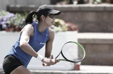 Astra Sharma durante la final del MUSC Health Women's Open.. (Fuente: Twitter @WTA)