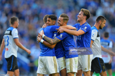 Leicester City ended pre-season with a 2-1 win against Atalanta | Photo: Getty/ Plumb Images
