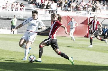 Imagen del partido de la primera vuelta entre el Athletic Club femenino y la Fundación Albacete | Fotografía: Athletic Club