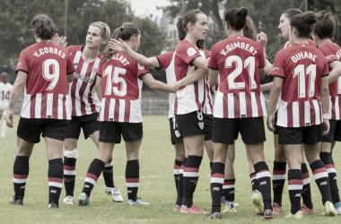 El Athletic Club Femenino en la última edición de la Euskal Herriko Kopa frente al Alavés || ATHLETIC CLUB