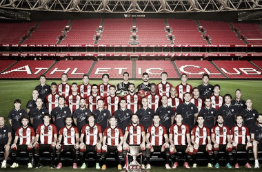 La plantilla del Athletic Club de Bilbao ganadora de su última Supercopa. Imagen: Athletic Club de Bilbao