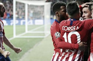 Los jugadores del Atlético de Madrid celebrando el 2-0 a la Juventus | Foto: Atlético de Madrid