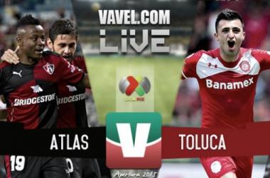 Resultado Atlas - Toluca en Liga MX 2015 (1-2)