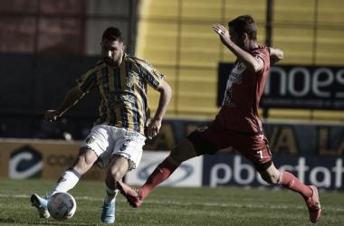Imagen del último encuentro entre Atlanta y Deportivo Maipú./ Foto: Vía País
