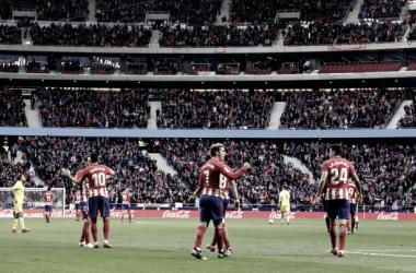 Atlético de Madrid - U.D Las Palmas: puntuaciones Atlético de Madrid, 21ª jornada del Campeonato Nacional de Liga