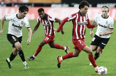 Imagen del último duelo Valencia CF vs Atlético de Madrid / Fuente: Atlético de Madrid