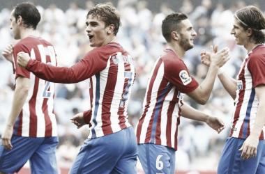Atlético de Madrid bate Celta fora de casa com dois de Griezmann e conquista primeira vitória na Liga