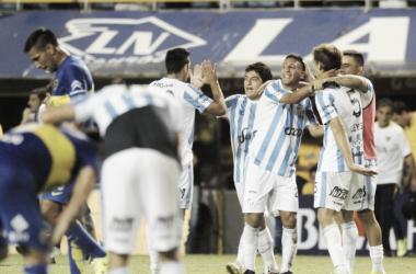 Felicidad absoluta tras derrotar a Boca en el 2016. ¿Podrá repetirlo mañana?.<div>Vía: Actualidad Chaco&nbsp;</div>