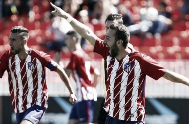 El Atleti 'B' salvó un punto en los compases finales.   Foto: Atlético de Madrid.