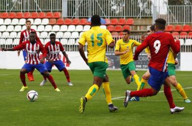 El ascenso del filial primero pasa por Almagro. Foto via clubatleticodemadrid.com