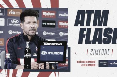 Simeone en la rueda de prensa | Foto: Atlético de Madrid