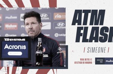 Diego Pablo Simeone en la rueda de prensa | Foto: Atlético de Madrid