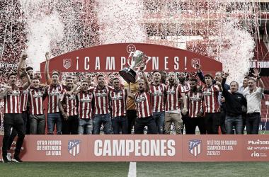 Koke levantando el título de liga en el Wanda Metropolitano | Foto: Atlético de Madrid