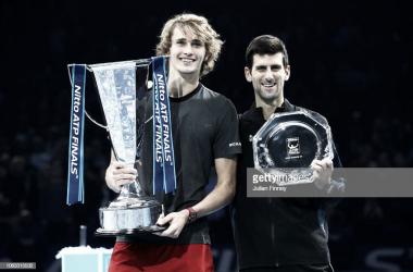 Alexander Zverev derrotó a Novak Djokovic en la final de las NItto ATP Finals. Foto: Getty Images.