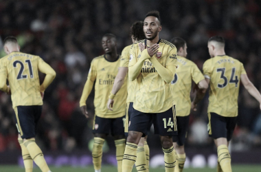 Aubameyang celebra un nuevo gol./ Foto: Premier League