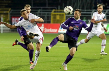 FC Erzgebirge Aue 1-2 FC Nürnberg: Burgstaller strikes late on to heap the pressure upon Pavel Dotchev