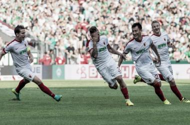 Stafylidis celebrating his winning goal(Picture source: kicker)