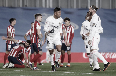 Casemiro celebran el gol en el partido de la primera vuelta | Fuente: realmadrid.com