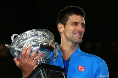 2015 Champion Novak Djokovic. Photo: Clive Brunskill/Mirror