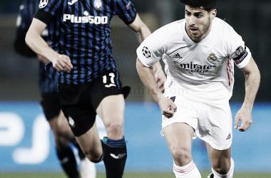 Marco Asensio en el partido del pasado miércoles frente a la Atalanta.| Fuente: Real Madrid C.F