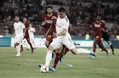 Luka Jovic dispara a portería / Foto: Real Madrid