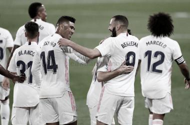 Benzema celebrando uno de sus goles | Foto: Real Madrid