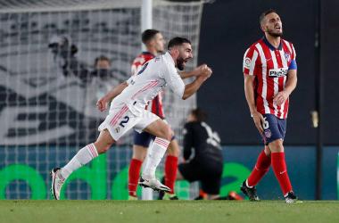 """Carvajal: """"Se ha visto a un Madrid que quería ir a por el partido"""""""